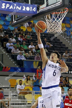 South Korean Player Yang Dong-geun Goes For a Basket During the Fiba Basketball World Cup Match Group D Match Between Mexico and South Korea at the Gran Canaria Arena in Las Palmas Canary Islands Spain 04 September 2014 Spain Las Palmas