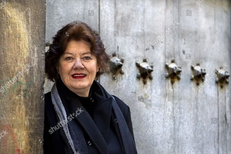 British Writer Anne Perry Poses in Zaragoza Spain 28 January 2015 Perry Will Be Awarded with the Honor Award For Her Contribution in the Category 'Thriller' at the Literature Festival Aragon Negro Spain Zaragoza