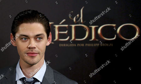 British Actor Tom Payne Poses For the Media During the Premiere of 'The Physician' in Madrid Spain 19 December 2013 the Movie Based on the Novel of the Same Title by Us Writer Noah Gordon Opens in Spanish Cinemas on 25 December Spain Madrid