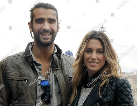 Spanish Actors Aitor Luna (l) and Blanca Suarez (r) Pose During the Presentation of the Shooting of 'My Bakery in Brooklyn' Directed by Gustavo Ron That is Now Finishing in Valencia Spain 16 December 2014 Spain Valencia