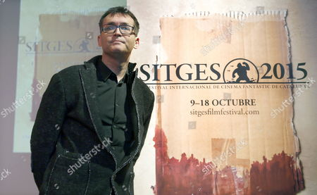 The Director of the Sitges-international Fantastic Film Festival of Catalonia Angel Sala Poses During the Presentation of the Festival's Poster in Barcelona Spain 18 March 2015 the Festival Will Run From 09 to 18 October Sitges 2015 Celebrates the 20th Anniversary of the Film 'Seven' by David Fincher with This Year's Poster Depicting a Bloody Cardboard Box Spain Barcelona
