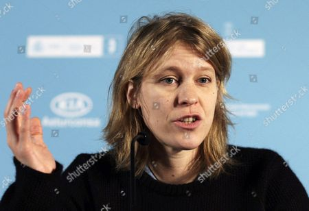 French Director Claire Burger Attends a Press Conference For 'Party Girl' During the 52nd Gijon International Film Festival in Gijon Spain 24 November 2014 the Film Competes in the Official Section of the Festival Spain Gijon