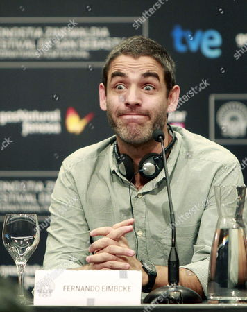 Mexican Film Director Fernando Eimbcke Gestures During a Press Conference For the Presentation of 'Club Sandwich' During the 61st San Sebastian International Film Festival in San Sebastian Spain 25 September 2013 the Movie is Presented in the Official Selection of the Festival Running From 20 to 28 September Spain San Sebastian