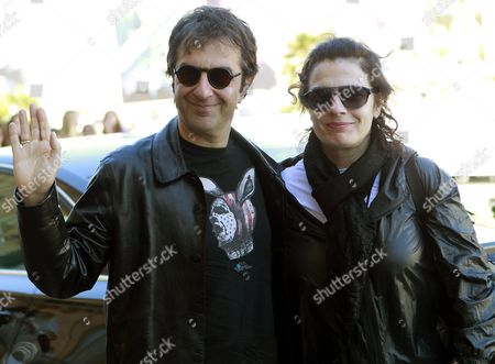 Armenian Film Director Atom Egoyan (l) and His Wife Lebanese Born Armenian-canadian Actress and Producer Arsinee Khanjian Arrive at Their Hotel For the 61st San Sebastian's International Film Festival in San Sebastian City Basque Country Northern Spain 23 September 2013 the Festival Runs From 20 to 28 September Spain San Sebatian