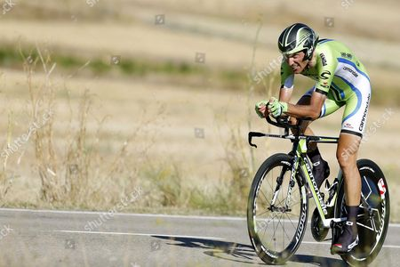 Italian Rider Ivan Basso of the Cannondale Team in Action During the Eleventh Stage of the 2013 Vuelta a Espana Cycling Race a 38 8 Km Individual Time Trial in Tarazona Zaragoza Northern Spain 04 September 2013 Spain Tarazona