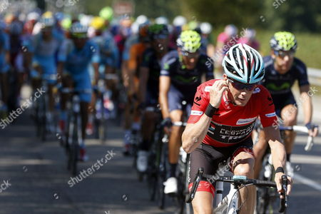 Us Chris Horner From Radioshack is Seen During the 20th Stage of the Spanish Cycling Vuelta After the 142 2km Race From Aviles to Alto De L'angliru in Asturias Spain 14 September 2013 by Arriving in the Second Position Horner Has Mathematically Won the Spanish Vuelta Spain Alto Del Naranco