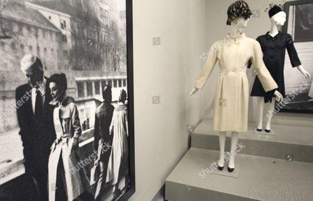Creations by French Designer Hubert De Givenchy Are Displayed During the First Major Retrospective Devoted to Hubert De Givenchy Held at Thyssen Bornemisza Museum in Madrid Spain 20 October 2014 This Exhibition Runs From 22 October to 18 January 2015 Spain Madrid