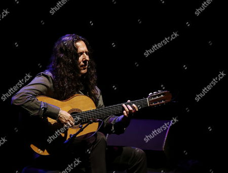 Spanish Flamenco Guitarist Jos? Fernßndez Torres 'Tomatito' Performs on Stage at Flamenco on Fire Festival in Pamplona Northern Spain 27 August 2014 in Which She Presents Her Lastest Performance 'Soy Flamenco' Spain Pamplona