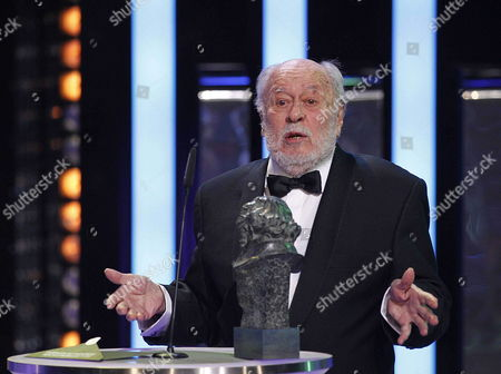 Spanish Film Director and Novelist Jaime De Arminan Speaks After Receiving His 'Honor' Goya Award During the 28th Goya Awards Awarding Ceremony in Madrid Spain 09 February 2014 Spain Madrid