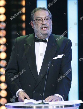 President of the Spanish Film Academy Enrique Gonzalez Macho Delivers a Speech During the 28th Goya Awards Awarding Ceremony in Madrid Spain 09 February 2014 Spain Madrid