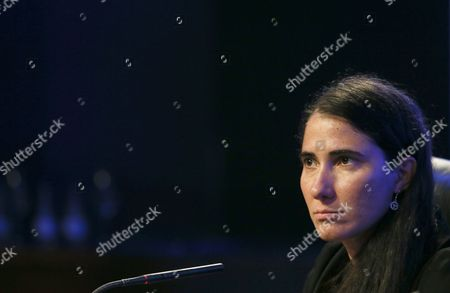 Cuban Activist Yoani Sanchez Participates in the Seventh Atlantic Forum at Casa De America in Madrid Spain 08 July 2014 the Event is Entitled 'The Economic and Institutional Consolidation of Latin America: Challenges' Spain Madrid