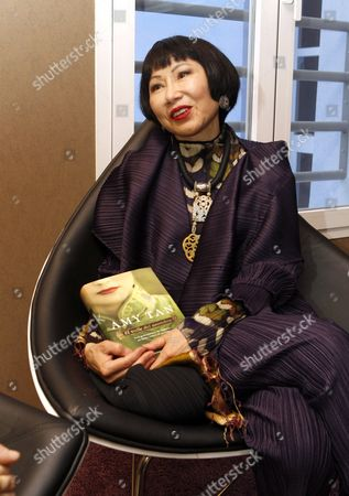 Us Writer Amy Tan Poses with a Copy of Her Latest Novel 'The Valley of Amazement' During an Interview For Efe News Agency in Madrid Spain 10 March 2014 the Book Tells the Story of Three Generations of Women in Shangai and San Francisco and Also Explores the World of Shanghai Courtesans Spain Madrid