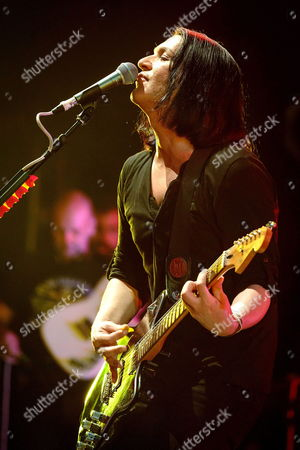 Lead Singer of British Band Placebo Brian Molko Performs on Stage During a Concert As Part of the Cap Roig Festival at Calella De Palafrugell in Girona Spain 01 August 2014 the Festival Runs Until 15 August Spain Calella De Palafrugell (girona)