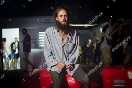 Lead Singer of British Band Crystal Fighters Sebastian Pringle Poses For Photographs After an Interview Backstage During the Arenal Sound Festival in Burriana Castellon Spain 01 August 2014 Crystal Fighters Will Perform at the Arenal Sound Festival Lthe Same Day Spain Benicasim