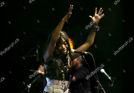 A Picture Dated 18 July 2014 Shows Spanish Singer Concha Buika Performing During the 23rd Internatonal Cultures Festival 'Pirineos Sur' in Sallent De Gallego Northeastern Spain the Festival Runs Until 27 July Spain Sallent De Gallego