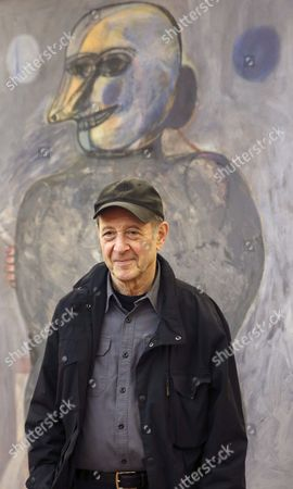 Us Composer Steve Reich Poses Before His Press Conference in Madrid Spain 16 June 2014 Reich is the Winner of the Frontiers of Knowledge Award in the Contemporary Music Category Presented Annually by the Bbva Foundation Since 2008 Spain Madrid