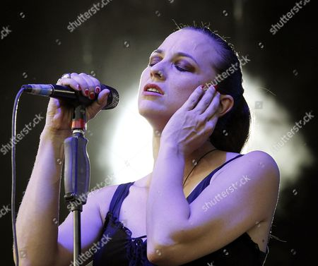 'Marlango' Band Singer Leonor Watling Performs on Stage During Her Music Day Concert in Madrid Spain 20 June 2014 Spain Madrid