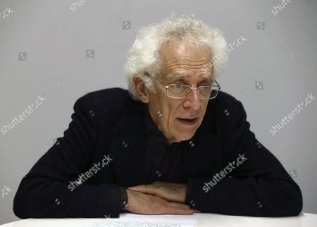 Stock Photo of The Picture Made Available on 11 December 2014 Shows Bulgarian-french Historian and Philosopher Tzvetan Todorov Adressesing to the Media During a Conference Entittle 'The European Values' on the Occassion of the Circle 'The Possible's Spain' in Madrid Spain 10 December 2014 Spain Madrid