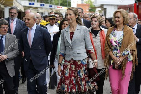 Spanish Princess Elena (c) and Spanish Culture Minister Jose Ignacio Wert (2-l) Among Others Attend the Opening of the 73rd Madrid Book Fair in Madrid Spain 30 May 2014 the Fair Running Until Next 15 June Will Pay Tribute to Late Colombian Writer Gabriel Garcia Marquez and Argentinian Cartoonist Quino Spain Madrid
