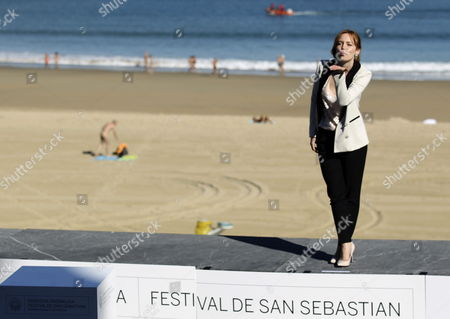 Stock Image of Italian Actress Olimpia Melinte Poses at the Photocall For 'Canibal' (cannibal) During the 61st San Sebastian International Film Festival in San Sebastian Spain 23 September 2013 the Movie is Presented in the Official Selection of the Festival Running From 20 to 28 September Spain San Sebastian