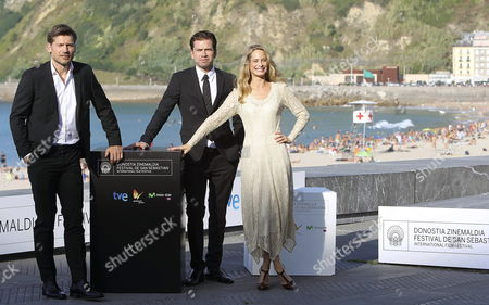 (l-r) Danish Actors Nikolaj Coster-waldau and Nikolaj Lie Kaas and Swedish Actress Maria Bonnevie Pose For the Media During the Presentation of Their Movie 'En Chance Til' (a Second Chance) at the 62nd San Sebastian International Film Festival in San Sebastian Spain 21 September 2014 the Festival Will Run Until 27 September Spain San Sebastian