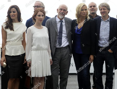 Austrian Director Michael Sturminger (r) German Actress Veronika Ferres (2-r) Austrian Baritone Florian Boesch (2-r Back) Us Actor John Malkovich (c) French Actress Lola Naymark (2-l) and Portuguese Actress Maria Joao Bastos (l) Pose at a Photocall For 'The Casanova Variations' During the 62nd San Sebastian International Film Festival in San Sebastian Spain 22 September 2014 the Movie is Presented in the Official Selection of the Festival Which Runs Until 27 September Spain San Sebastian