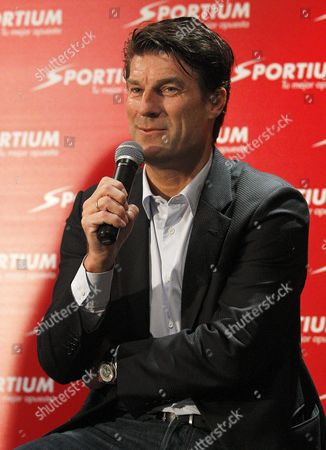 Danish Soccer Coach Michael Laudrup Talks About the Upcoming Spanish Primera Division Soccer Match Between Fc Barcelona and Real Madrid During an Event Organized by a Sports Betting Company in Madrid Spain 21 March 2014 Spain Madrid