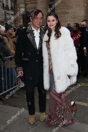 Stephen Hung and wife Deborah Valdez attend the Jean Paul Gaultier Haute Couture Spring Summer 2017 fashion show as part of Paris Fashion Week on January 25, 2017.//HAEDRICHJM_016JMH/Credit:Jean-Marc Haedrich/SIPA/1701260718
