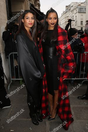 Chloe Mortaud and Flora Coquerel attend the Jean Paul Gaultier Haute Couture Spring Summer 2017 fashion show as part of Paris Fashion Week on January 25, 2017.//HAEDRICHJM_033JMH/Credit:Jean-Marc Haedrich/SIPA/1701260718