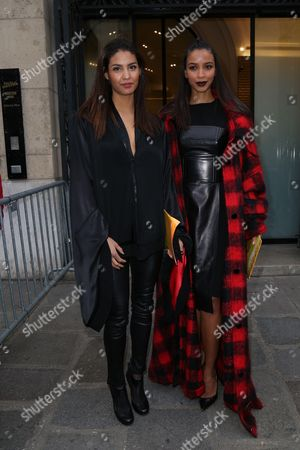 Chloe Mortaud and Flora Coquerel attend the Jean Paul Gaultier Haute Couture Spring Summer 2017 fashion show as part of Paris Fashion Week on January 25, 2017.//HAEDRICHJM_072JMH/Credit:Jean-Marc Haedrich/SIPA/1701260718