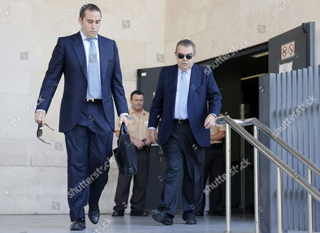 Former Valencia Cf's President Juan Soler (r) Leaves a Court at Valencia's City of Justice in Valencia City Eastern Spain 16 July 2014 Soler Testified on the Accusation of the Attempted Kidnapping of Vicente Soriano Former President of Spanish Liga's Primera Division Team Valencia Spain Valencia