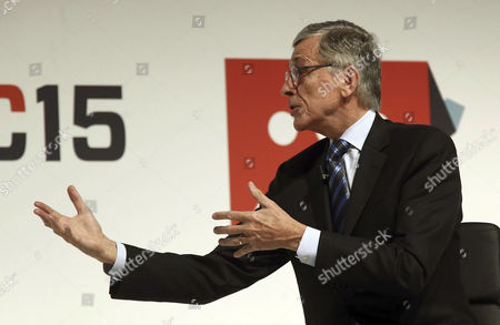 Us Chairman of the Federal Communications Commission Tom Wheeler Gives a Speech During the Second Day of the Mobile World Congress (mwc) in Barcelona Northeastern Spain 03 March 2015 the Mobile World Congress Running From 02 to 05 March is the World Biggest Event in the Mobile Sector This Year's Edition Focuses on Wearable Devices and the So-called Internet of Things Spain Barcelona