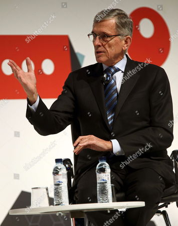Stock Image of Us Chairman of the Federal Communications Commission Tom Wheeler Gives a Speech During the Second Day of the Mobile World Congress (mwc) in Barcelona Northeastern Spain 03 March 2015 the Mobile World Congress Running From 02 to 05 March is the World Biggest Event in the Mobile Sector This Year's Edition Focuses on Wearable Devices and the So-called Internet of Things Spain Barcelona