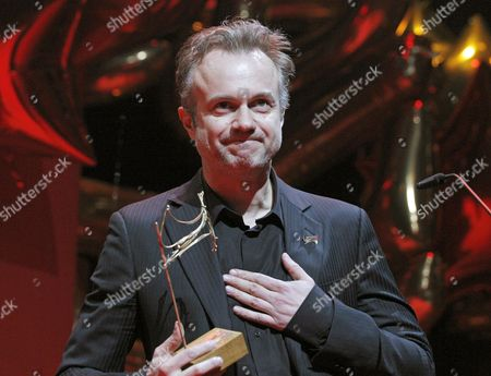 Spanish Actor Tristan Ulloa Acknowledge His 'Best Tv Supporting Actor' Award During the 23th Spanish Actors Union Award Ceremony Held at the Coliseum Theater in Madrid Spain 10 March 2014 Spain Madrid