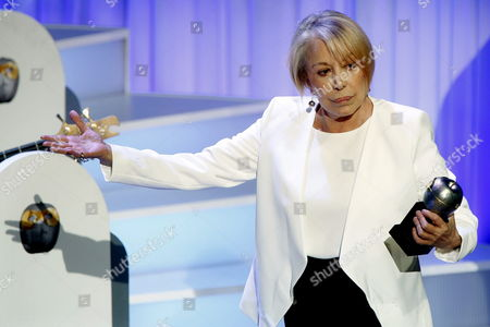 Spanish Actress Rosa Maria Sarda Receives the Max Honor Award For Her Career During the Max Theater Award Gala at the Barts Auditorium in Barcelona Spain 18 May 2015 Spain Barcelona