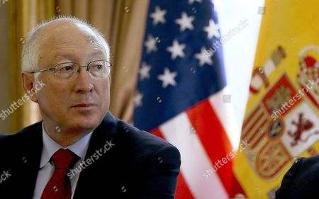 Former Us Secretary of the Interior Ken Salazar Takes Part in a Talk to Analyse the Increasing Importance of Latin American People in the United States in Madrid Spain 23 May 2014 Spain Madrid