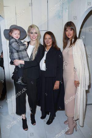 Stock Photo of (L-R) Coco Rocha, her daughter Loni Conran with Christine Innamorato and Alessandra Ambrosio