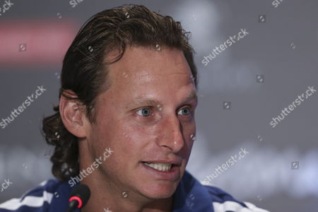 Argentinean Tennis Player David Nalbandian Talks During a Press Conference with Spanish Colleague Number One in the Ranking Rafael Nadal (not in Picture) in Cordoba City Argentina on 21 November 2013 Both Players Will Participate in This City in a Exhibition Match As a Farewell to Nalbandian Argentina C?rdoba