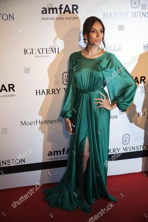 Brazilian Model Lea T Arrives For the Benefit Gala 'Inspiration' Promoted by the American Fundation For the Investigation Against Aids (amfar) in Sao Paulo Brazil 10 April 2015 Brazil Sao Paulo