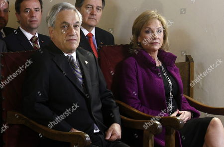 Chilean President Sebastian Pinera (l) and His Wife Cecilia Morel (r) Attend a Ceremony As Part of the Commemoration of the 40th Anniversary of Chilean Coup of State at La Moneda Presidential Palace in Santiago De Chile Chile 11 September 2013 Chile Commemorates the 40th Anniversary of the Military Coup Led by General Augusto Pinochet Against the Government of Salvador Allende and Allende's Death on 11 September 1973 Some 3 200 People Allegedly Disappeared During Pinochet's Dictatorship Chile Santiago De Chile