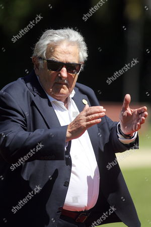 Uruguayan President Jos? Mujica Upon His Arrival Prior to the Cerro Castillo Palace in Vi±a Del Mar Chile 11 March 2014 After the Ceremony of Investiture For Chilean President Michelle Bachelet at the National Congress in Valparaiso Chile Vi?a