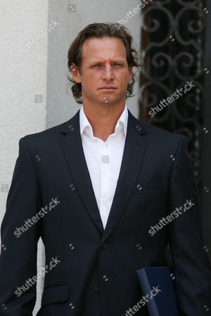 International Tennis Player Argentinean David Nalbandian Participates in a Meeting with President of Chile Sebastian Pi±era at La Moneda Palace in Santiago Chile on 20 November 2013 the Tennis Players Arrived to the Country to Participate in the Farawell Match of Chilean Nicolas Massu Current Captain of Davis Cup Chilean Team Chile Santiago