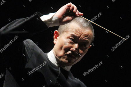 Chinese Orchestra Director and Composer Tan Dun Performs During the Play 'Martial Arts Trilogy' in the International Theatre Festival 'Santiago a Mil' at Constitution Square in Santiago De Chile Chile 04 January 2015 Chile Santiago De Chile