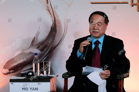 Literature Nobel Prize Winner of 2012 Chinese Mo Yan Speaks During the Literary Encounter Colombia-china As Part of the Visit of Chinese Prime Minister Li Keqiang (not Pictured) at San Carlos Palace Foreign Affairs Ministry Facility in Bogota Colombia 22 May 2015 Li Keqiang is on a Tour of South American Countries Colombia Bogota
