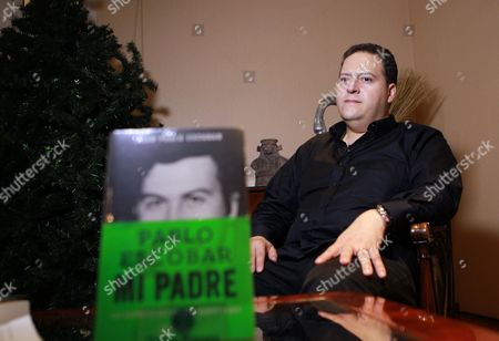 A Picture Made Avalaible on 08 November 2014 Shows Sebastian Marroquin Born Juan Pablo Escobar During an Interview in Bogota Colombia 07 November 2014 the Son of Late Colombian Drug Lord Pablo Escobar Presented His Book Entitled 'Pablo Escobar: Mi Padre' (pablo Escobar: My Father) Colombia Bogota
