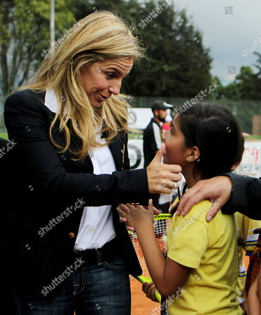 Former Spanish Tennis Player Arantxa Sanchez Vicario Participates in an Event with Children of Limited Resources in Bogota Colombia 11 March 2014 Colombia Bogotß