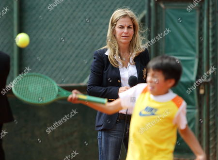 Spanish Former Tennis Player Arantxa Sanchez Vicario Participates in an Event with Children of Limited Resources in Bogota Colombia 11 March 2014 Colombia Bogotß