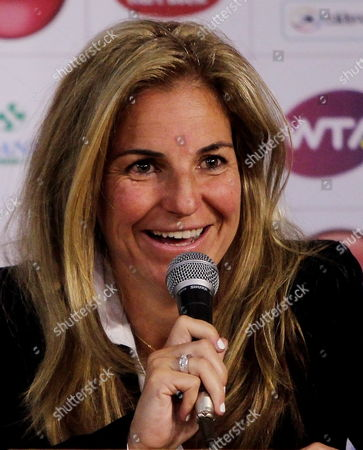 Spanish Former Tennis Player Arantxa Sanchez Vicario Speaks During the Presentation of the Wta Claro Open Colsanitas in Bogota Colombia 11 March 2014 the Event Will Run From 05 to 13 April 2014 Colombia Bogota