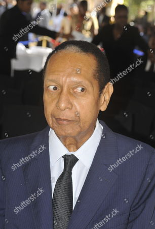 Former Haitian Dictator Jean Claude Duvalier Known As Baby Doc Attends the Funeral of Former President Leslie Manigat in Port-au-prince Haiti 05 July 2014 Manigat who was in Power in 1988 For 130 Days Until a Coup Died at 83 on 27 June 2014 Haiti Port-au-prince