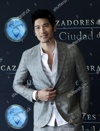Taiwanese Actor Godfrey Gao Poses For Photographs During the Presentation of 'The Mortal Instruments: City of Bones' in Mexico City Mexico 26 August 2013 the Movie Will Be Released in Mexico on 30 August Mexico Mexico City
